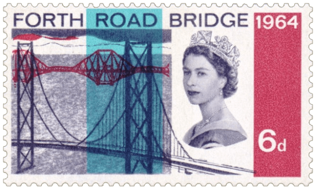 UK 1964 6d Forth Road Bridge stamp