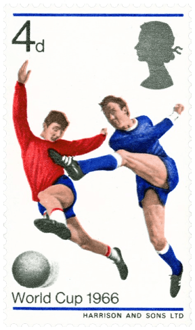 UK 1966 4d World Cup stamp