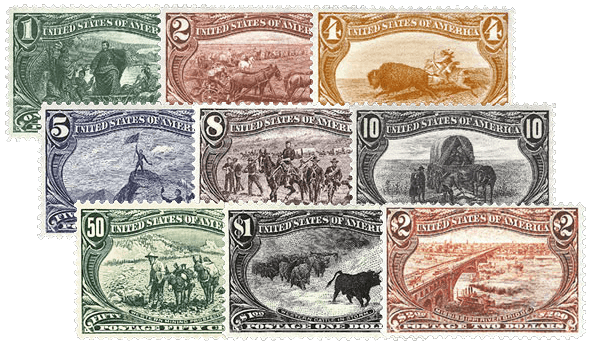 USA 1898 Trans-Mississippi set