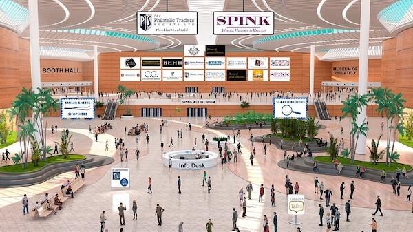 Virtual Stampex International 2020 lobby
