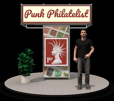 Virtual Stampex International 2020 Punk Philatelist booth