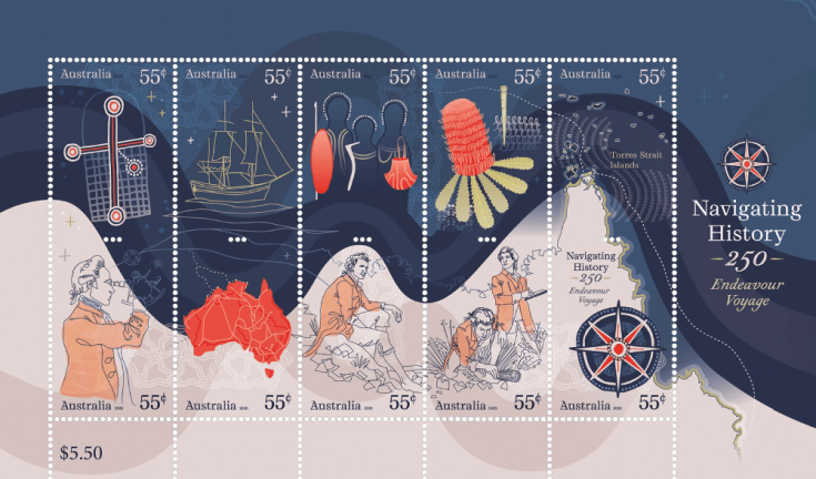 Australia 2020 Navigating History 250 Years since Endeavour Voyage miniature sheet