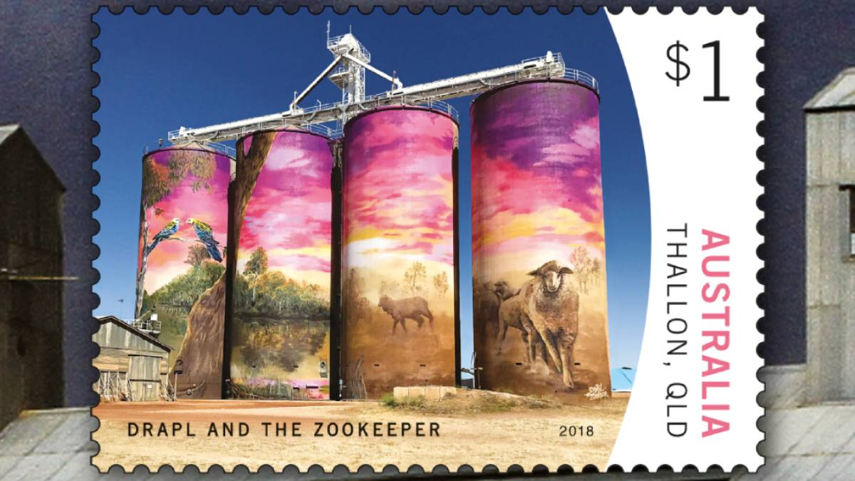 Punk Philatelist Australia Silo Art stamps