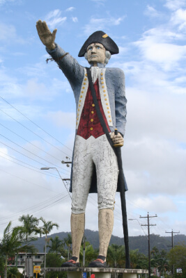 Big Captain Cook statue Cairns Australia