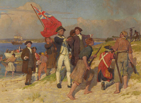 Landing of Captain Cook at Botany Bay by E Phillips Fox