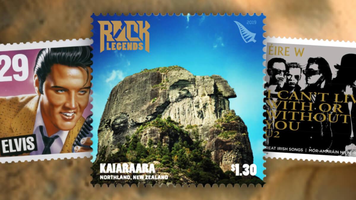 NZ Rock Legends stamps header