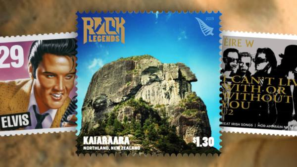NZ Rock Legends stamps header