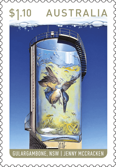 Australia 2020 Water Tower Art $1.10 Gulargambone stamp