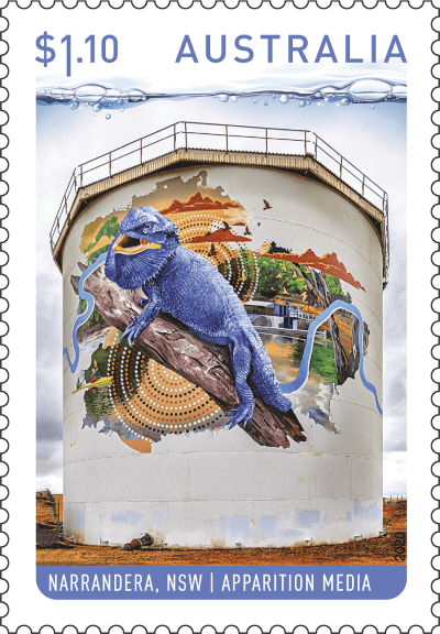 Australia 2020 Water Tower Art $1.10 Narrandera stamp