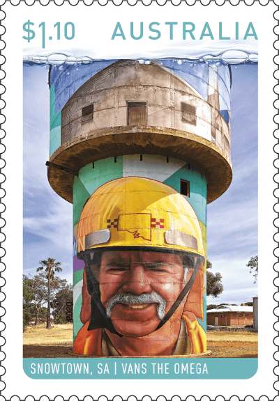 Australia 2020 Water Tower Art $1.10 Snowtown stamp