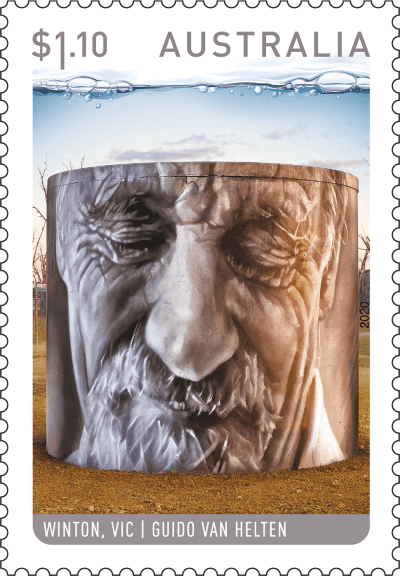 Australia 2020 Water Tower Art $1.10 Winton stamp