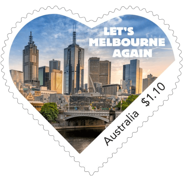 Australia 2021 Let's Melbourne Again $1.10 stamp