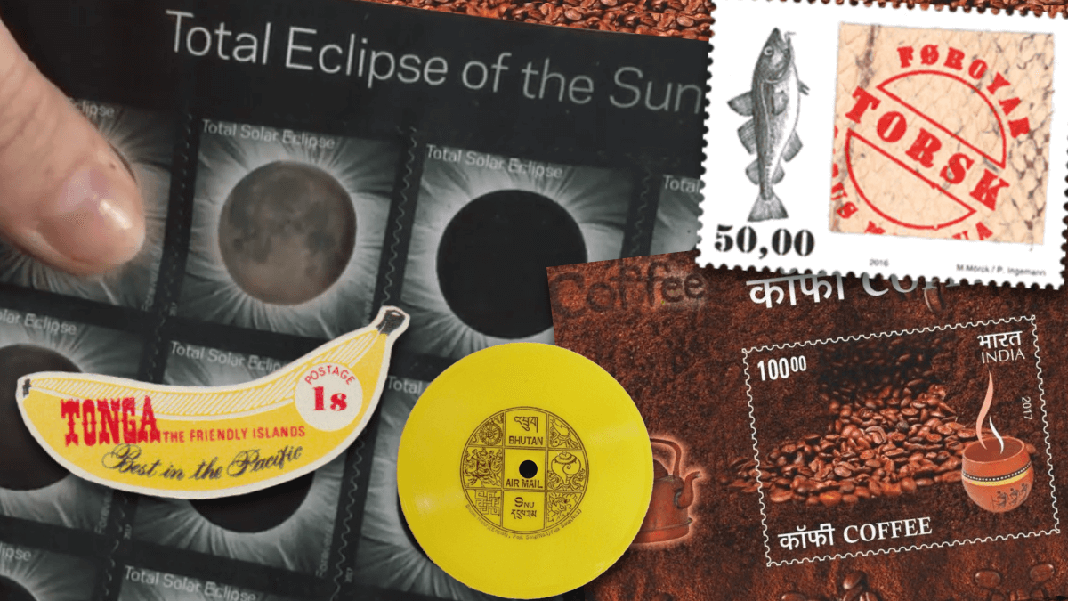 Punk Philatelist solar eclipse novelty stamps header image