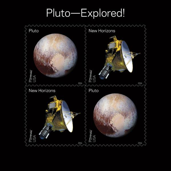 US Pluto Explored! minisheet