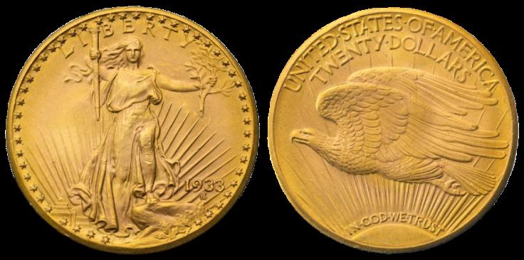 USA 1933 $20 Double Eagle coin