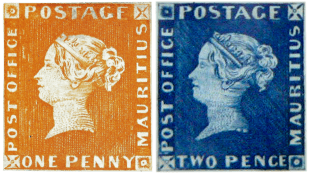 Mauritius 1847 Post Office issues