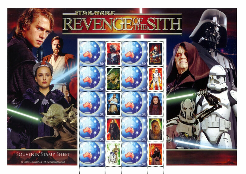 Australia Revenge of the Sith souvenir sheetlet