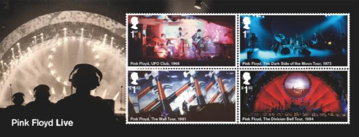 UK 2016 Pink Floyd Live minisheet